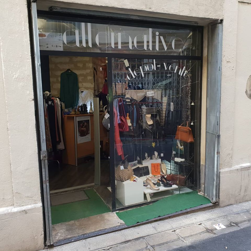 Vitrine boutique Alternative dépôt-vente Montpellier
