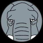 Logo Elephant Vintage Store Friperie Lyon