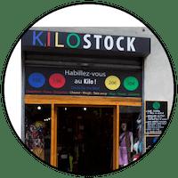 "Logo ""Kilostock"" friperie à Toulouse"