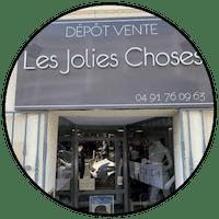 Logo les jolies choses dépôt-vente Marseille