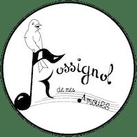 """Logo """"Rossignol de mes amours"""" friperie à Rennes"""