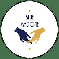 """Logo """"Blue Madone"""" friperie à Bordeaux"""