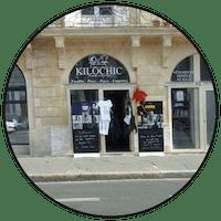 "Logo ""Kilochic"" friperie à Bordeaux"