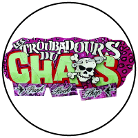 Logo Les troubadours du chaos friperie Rennes