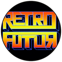 "Logo ""Retro futur"" friperie à Toulouse"