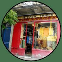 "Logo ""Steack fripes"" friperie à Bordeaux"