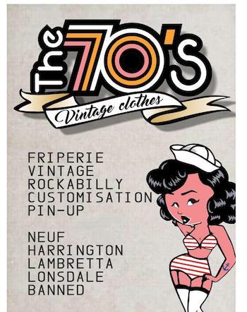Image 70's vintage clothes friperie Le Havre