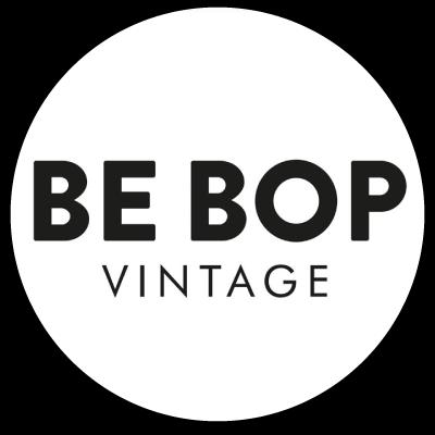 """Logo """"Be bop vintage"""" friperie à Lille"""