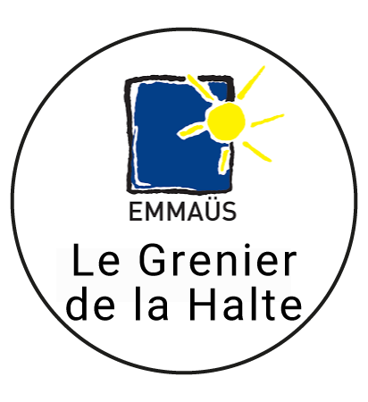 """Logo """"Le grenier de la halte"""" friperie à Lille"""