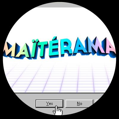 """Logo """"Maïtérama"""" friperie à Lille"""