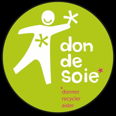 """Logo """"Don de soie"""" ressourcerie à Lille"""