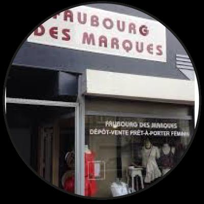 """Logo """"Faubourg des marques"""" dépôt-vente à Lille"""